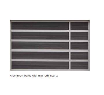 Aluminium frame with mini-orb inserts