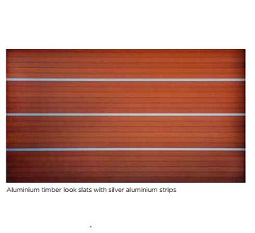 Aluminium timber with silve aluminium strips