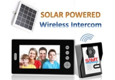 "Solar Battery Powered Wireless 7"" Inch Colour Video Door Phone Doorbell Intercom"