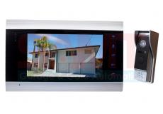 """7"""" Silver Intercom Doorbell Camera Kit"""