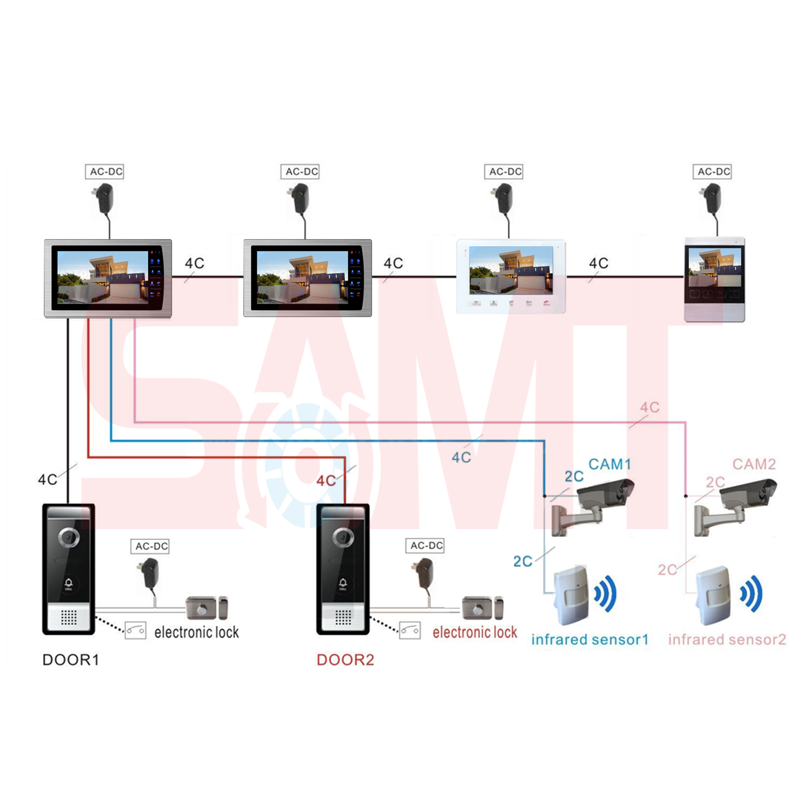 new 7 silver intercom doorbell camera kit samtgatemotors. Black Bedroom Furniture Sets. Home Design Ideas