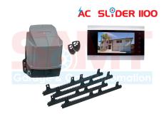SAMT AC Slider Gate Motor with 7″ Intercom Silver