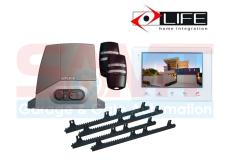 LIFE Acer AC4/AC4R Slide Gate Motor Kit with 7″ Intercom White