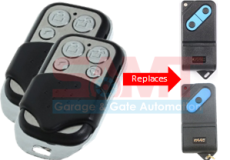 2 x FAAC TM433 DS 1 & 2 Channel Replacement Remote