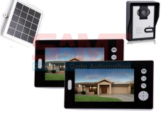 "Solar Battery Powered DUAL Wireless 7"" Inch Colour Video Door Phone Doorbell Intercom"