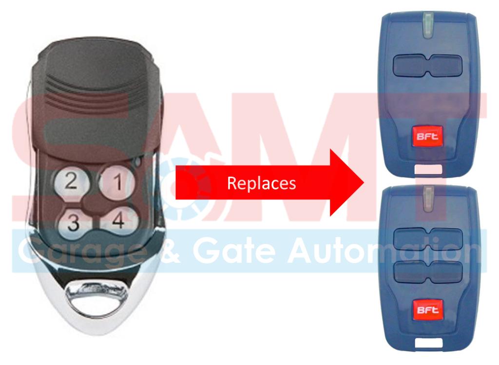 1 X Bft Compatible Garage Gate Remote Transmitter B Rcb2