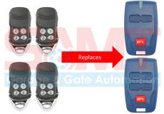 4 x BFT Compatible Garage/Gate Remote Transmitter: B RCB2 B RCB TX2 TX4 0678