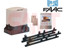 FAAC 740 Slide Gearmotor Kit with 4″ White Intercom