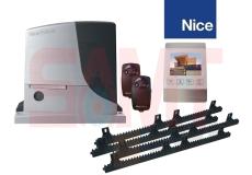Nice Robus 500 Slide Gate Motor Kit with 4″ White Intercom