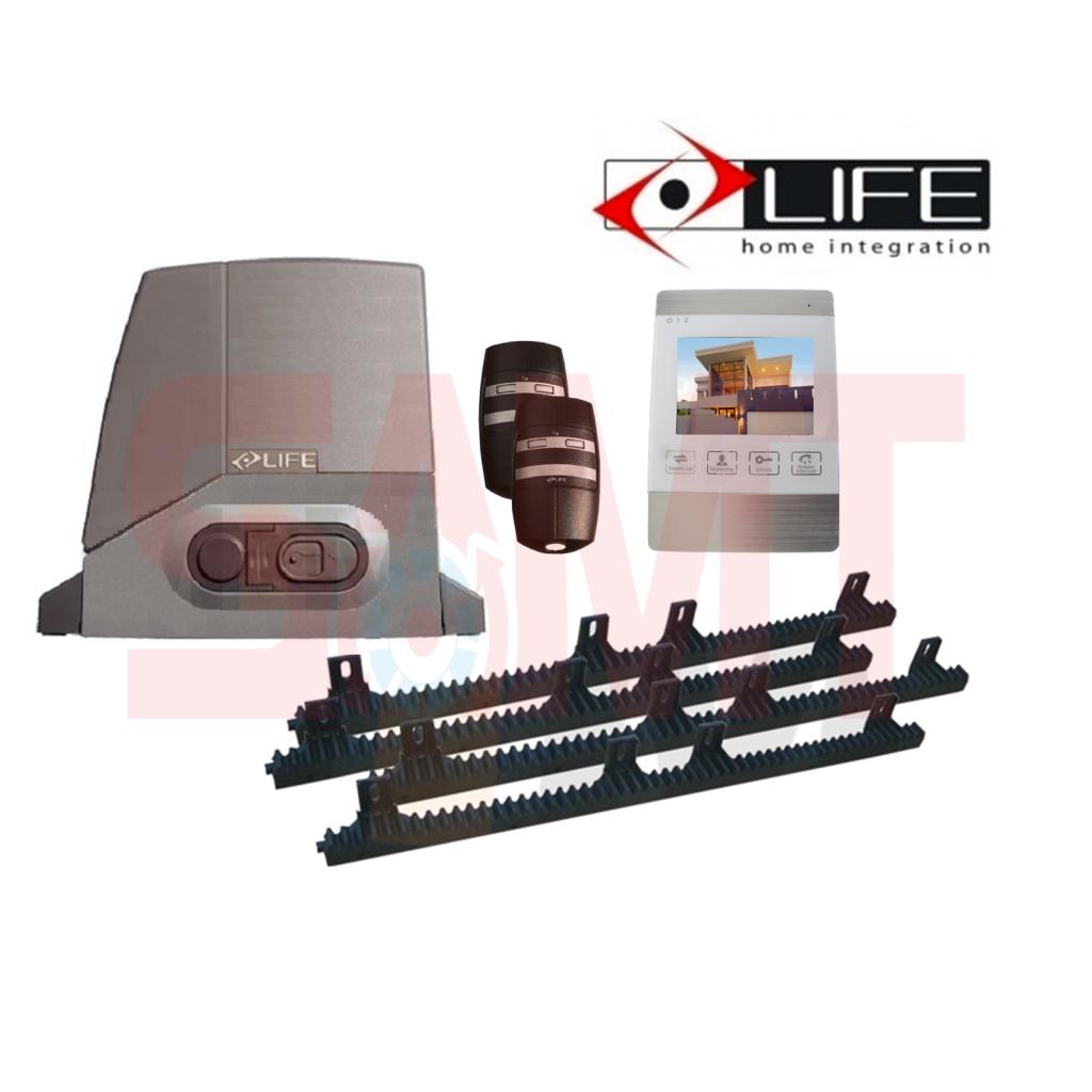Life Acer Ac4 Ac4r Slide Gate Motor Kit With 4 White